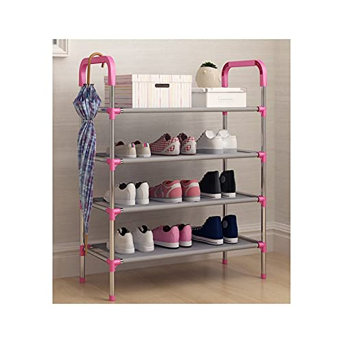HYAN Zapatero Multi-Capa Simple Zapato ensamblaje Tela Zapato Zapato Almacenamiento Organizador Zapato Torre de Zapato para Entrada Entrada armarios Caja de Zapatos (Color : Pink, tamaño : 4 Layers)