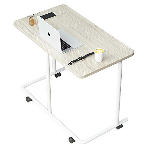 WSNBB Bettisch C Seite Rolltisch Mit Verschließbaren Rädern, Medical Tragbare Notebook Laptop-Schreibtisch, TV Tray Table for Essen Frühstück (Color : A)