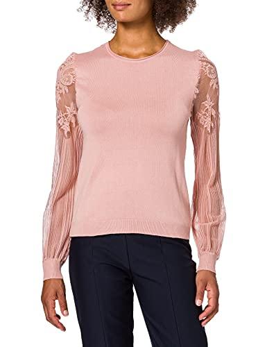 ONLY Damen ONLVIKTORIA L/S EX KNT Pullover, Rosa (Misty Rose Detail:w. DTM Lace), 34 (Herstellergröße: XS)