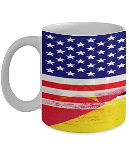 N\A USA Mosambik Flagge 11oz weiße Kaffeetasse Teetasse American Immigrant Country