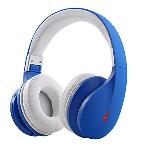 Auriculares con Bluetooth Mixcder Drip, inalámbricos, con micrófono plegable, con control de volumen, controladores de 50mm, 20horas de tiempo de reproducción azul