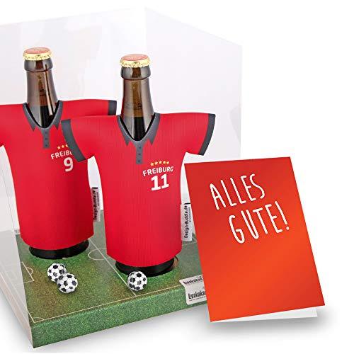 Der Trikotkühler | Das Männergeschenk für Freiburg-Fans | Langlebige Geschenkidee Ehe-Mann Freund Vater Geburtstag | Bier-Flaschenkühler by Ligakakao