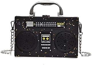 Droxie - パーソナリティ黒ラジオPUレザーファッションの女性はバッグショルダーバッグハンドバッグ女性のクロスボディミニメッセンジャーバッグpursクラッチ [新ブラック ]