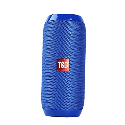 Altavoz inalámbrico Bluetooth Altavoz al aire libre Mini altavoz TG117 Impermeable Columna portátil Altavoz Caja Herramientas azules gratis