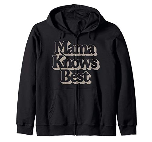 Mama Knows Best Rose Gold Outline Zip Hoodie