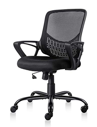 Ergonomic Office Chair Lumbar Support Mesh Chair Computer Desk Task Chair with...