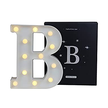 DELICORE LED Marquee Letter Lights Sign, Light Up Alphabet Letter for Home Party Wedding Decoration B