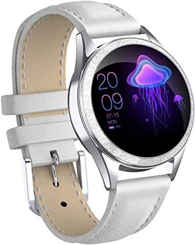 JSL Reloj Inteligente Bluetooth Reloj Inteligente De Las Mujeres De Pantalla Completa De Aleación De Diamante Reloj Inteligente Monitor De Ritmo Cardíaco Deporte Señora Reloj Para IOS Android-Oro-