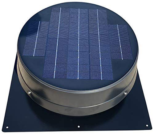 "20-Watt Solar Attic Fan (BDB) with Thermostat/Humidistat (23 x 23 x 8.75 in.) - Brushless Motor – Solar Vent Fan That's Hail and Weather Resistant – ""Builder Series"" by Remington Solar"