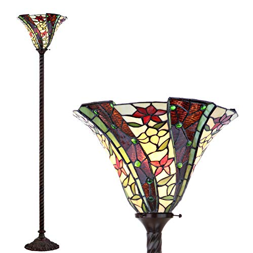 Ivory Floral Floor Lamp - 1