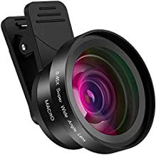 LensPro Universal HD Mobile Phone Camera Lens Kit for Smartphone, iPhone, Samsung, Pixel Compatible, Pro Clip on Macro and Wide Angle Photo Lens Attachment with Travel Case
