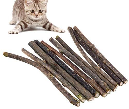 10 Stück Kauhölzer für Katzen - gegen Langeweile & für gute Verdauung