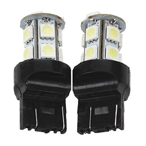 TOOGOO(R) 2x Lampe automatique Ampoule T20 7443 13 LED SMD 5050 12v Hyper White Light