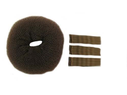 GIZZY? Extra Large Bun Ring and 30 Piece Longer Length Kirby Grip Set by Top Brand (English Manual)
