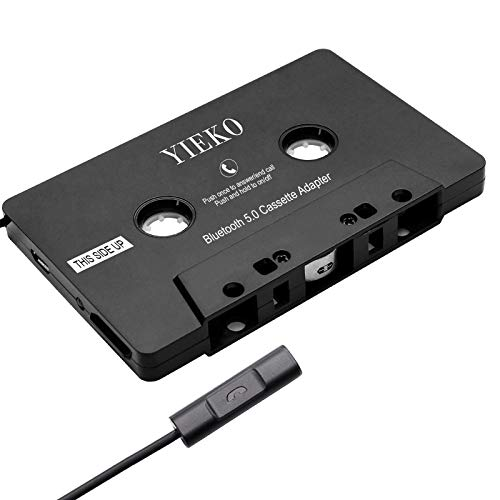 YIEKO Car Audio Cassette Player Adapter, Universal Bluetooth 5.0 Cassette Tape to Aux Adapter Receiver, for Vintage Car, Radios, Stereo