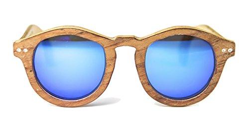 Gafas de madera Forest Bubinga Lente Azul Espejo - FELER