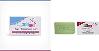 Sebamed Baby Cleansing Bar (150g) and SebaMed Cleansing Bar Soap-Free for Normal to Oily Skin, 100gm