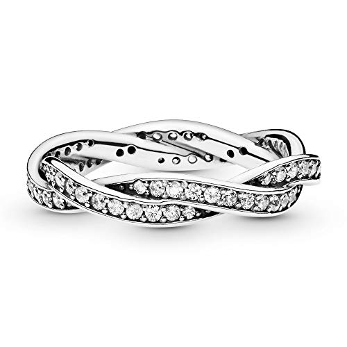 Pandora Jewelry Twist of Fate Cubic Zirconia Ring in Sterling Silver, Size 4.5