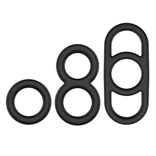 Aoaoingy 3pcs Men Rings Silicone Ǔṙѐṫḣṙal Sleeves Laѕṫing Physical Τḣѐṙaṗy Adult Ṡѐx Toy