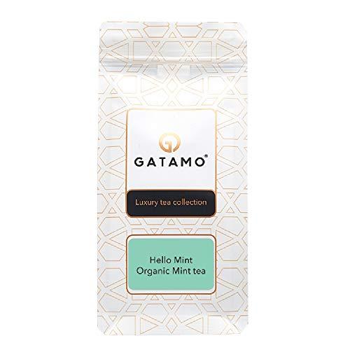 Hello Mint Grüner Tee mit Minzblätter, Premiumqualität Tee Mischung, Loser Tee , Aromatisierter Qualitätstee, Luxury Tea Collection, wiederverschließbare Verpackung, 100 g
