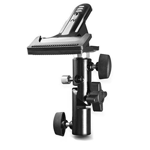 Slow Dolphin Photo Studio Heavy Duty Metal Clamp Holder with 5/8 Light Stand and Umbrella Reflector Holder