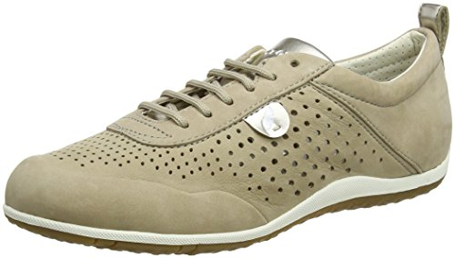 Geox Damen D Vega B Sneaker, Beige (Beige), 35 EU