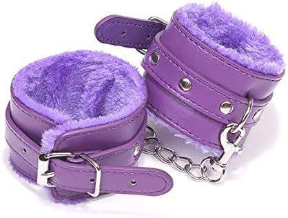 tenghong2021 Fluffy Wrist Leather Handcuffs Bracelet Soft Plush Lining Wrist Handcuffs Bracelet product image