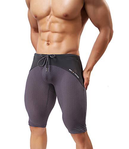 Arjen Kroos Herren Sport Hose für Gewichtsverlust Abnehmen Hot Thermo Sauna Sweat Caprihose Fitness Workout Body Shaper Sportlich Yoga Hose