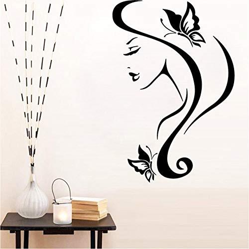 Preisvergleich Produktbild Xxscz Hübsches Mädchen Wandaufkleber Moderne Schönheitssalon Dekoration Abnehmbare Vinyl Wandtapete Für Schlafzimmer Dekor