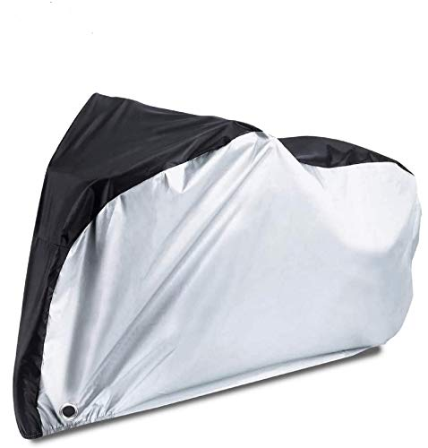 Bike Covers for Outside Storage Waterproof Bicycle Covers for Outside Storage Universal Bike Bag, 210T Nylon Rainproof Cover Coating Anti Dust UV Protection with Lock-holes for Mountain Bike/Road