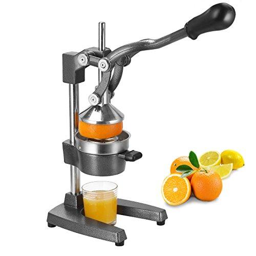 Voilamart Profi Hand Saftpresse,Gusseisen und Edelstahl Hebel Zitruspresse Entsafter Juicer Machine,Hebelpresse für z.B Orangen und Granatapfelsaft