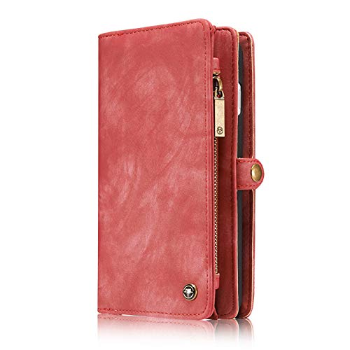 iPhone 11R 6.1 Inch Wallet Case,Businda 2019 Release Detachable Magnetic Shock Cover Card Slots &Cash Pocket Premium Folio Flip Zipper Purse Case for iPhone 11/11R/XIR (6.1 inch,Pink)