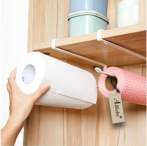 Alliebe 2pcs Rollo de papel toalla de papel titular dispensador bajo a