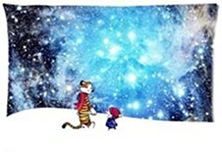 Custom Cartoon Calvin and Hobbes Two Sides Printed for 20x30 Inch Zippered Pillow Case Cover/fashion Cushion Cover