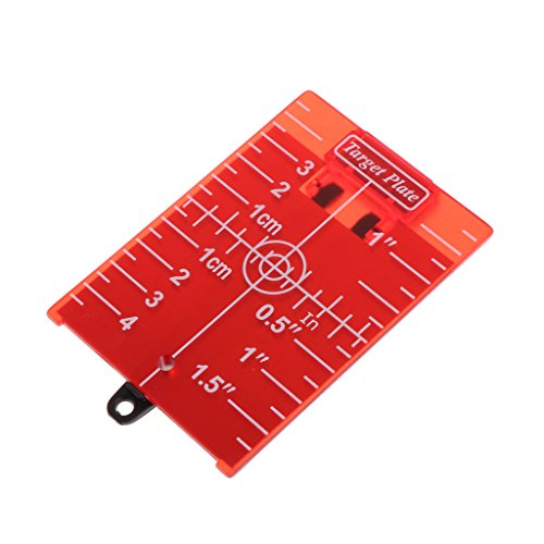 Xuebai Magnetic Red Target Plate Für Rotary Cross Line Laser Level Entfernungsmesser Magnetic Target Plate Red
