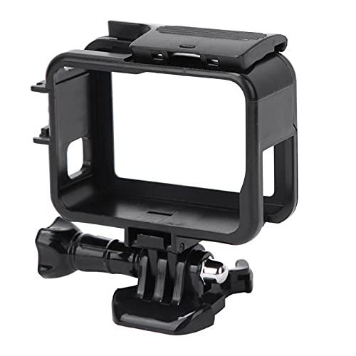KUIDAMOS Kamerarahmen, schwarzer Kameraschalenrahmen, glattes Leichtgewicht mit der Basis für Fahrradfahren für GoPro Hero Kamerazubehör Kameraschutzhalterung