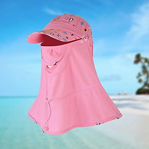 HaiMa Sombrero De Pesca Al Aire Libre Extraíble 360° Protección Cara Cuello Anti-UV Pescador Sombrero - Blueadult