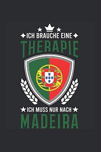 Madeira Reise Notizbuch: Madeira Portugal Urlaub Reise Geschenk / 6x9 Zoll / 120 gepunktete Seiten
