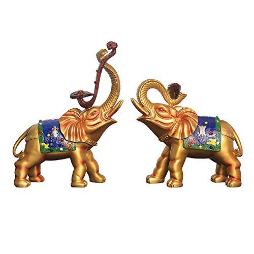 Accesorios Para El Hogar Decoración De Escritorio Adornos De Elefante De Lujo Simples Y Ligeros Un Par De Estatuas De Elefantes Para El Hogar Creativas Decoraciones Sala De Estar Armario De Vino Arma