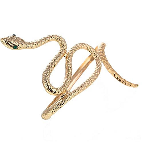 Pinicecore Gioielli Bracciale Serpente Anelli di Cristallo a Mano Punk Braccialetto 'Annata Bendable del Serpente per Le Donne Ragazze
