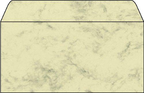 Sigel DU161 Briefumschlag, Marmor beige, gummiert, Innendruck, 90 g, DIN lang (110x220 mm), 25 Stück