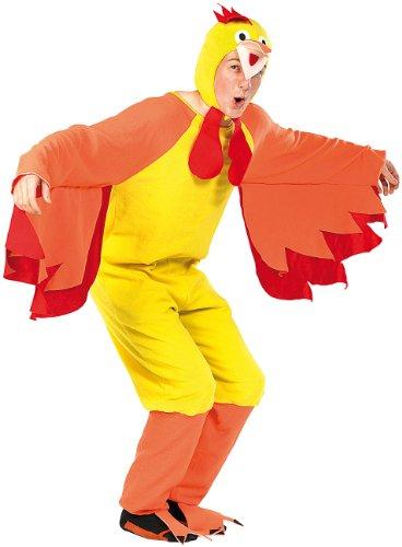 infactory Fasnachtskostüme: Faschings-Kostüm Funny Chicken, für Erwachsene bis 185 cm (Tier-Karnevalskostüme)