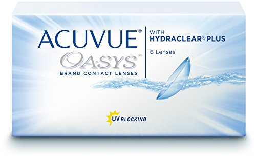 ACUVUE OASYS WITH HYDRACLEAR PLUS, REEMPLAZO QUINCENAL, PACK 6 LENTES, PARA MIOPIA (R8.8/D14.00/-1.00 a -12.00)