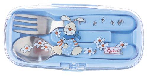 Sigikid 23508 - Besteck Box Semmel Bunny, Baby Universe