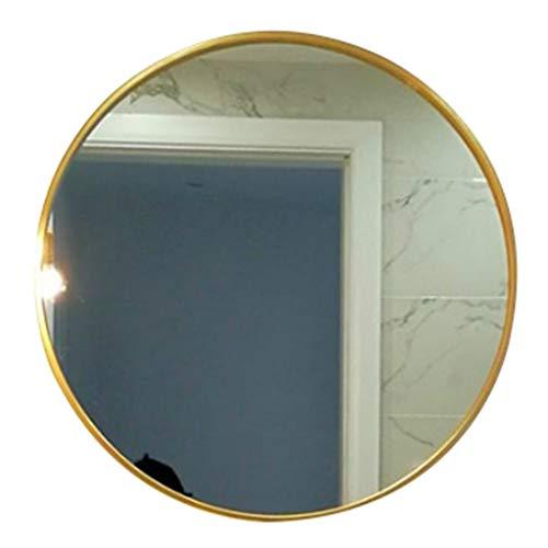 Jiamuxiangsi- Spiegel - Ronde Europese muur gemonteerde badkamer Spiegel/Dressing Tafel Ronde Spiegel/Decoratieve Spiegel ==spiegel Gold-70cm