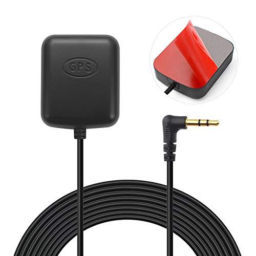 Bingfu GPS Antenne für Dash Cam Aktive GPS Antenne mit 3,5 mm Stecker für Auto LKW SUV Windschutzscheibe Autofahr Recorder Videoüberwachung Überwachung DVR Recorder GPS Tracker Empfänger