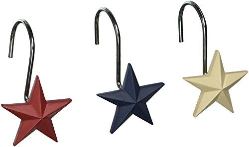 Avanti Linens Texas Star Shower Hooks, Multicolor