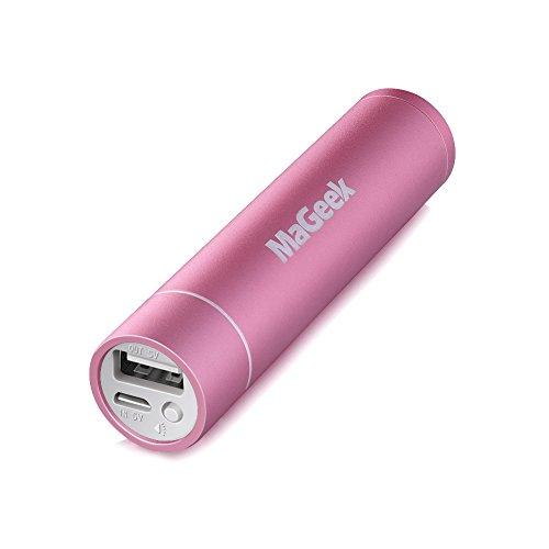 MaGeek Atom1 3350mAh Rossetto-Sized Banca Portatile di Potere Caricatore Esterno della Batteria con UniCharge Tecnologia per iPhone, Samsung e Altro (Rosa)