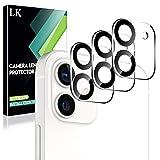 LK Compatible con iPhone 12 6.1 Pulgada Cámara Trasera Lente Pantalla, 3 Pack,Protector Cámara Vidrio Templado