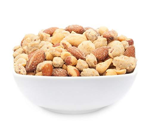 1 x 550g Nusskernmischung Erdnüsse Cashew Macadamia Mandeln Rauch-Aroma knackiger Bar Snack 21 % Protein